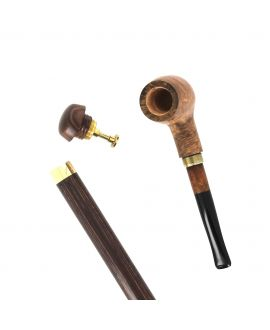 Canne Pipe en bruyère sur bâton en stamina