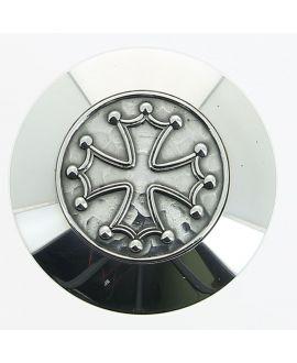 Canne Milord argenté Croix Cathare ou croix Templière