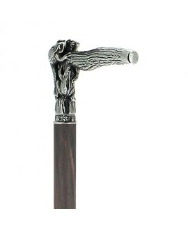 Solid pewter frog handle silver plated