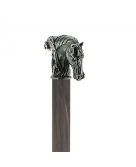 Solid pewter horse handle silver plated