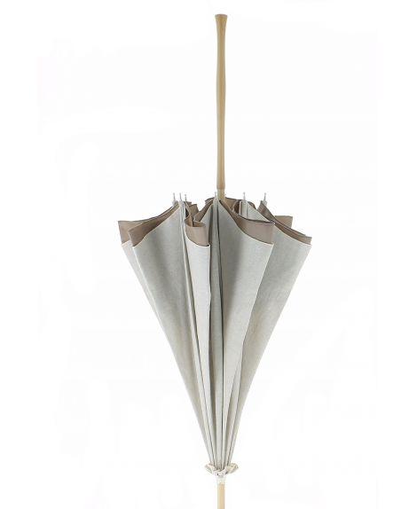 Natural linen Sun umbrella, waterproofed, internal lining satin. Unscrewable knob