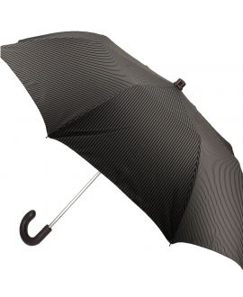 Man's Folding umbrella, brown with beige stripes