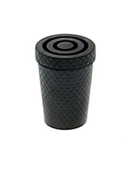 Black rubber tips for metallic cane