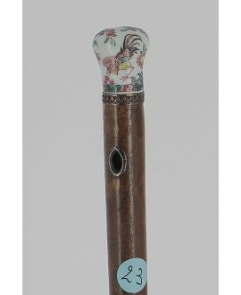 Cane with porcelain of Chantilly imitation of China handle circa 18th century