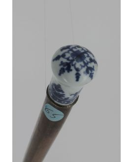 Canne Milord porcelaine de St Cloud XVIII