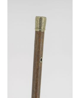 gold knob, malacca shaft