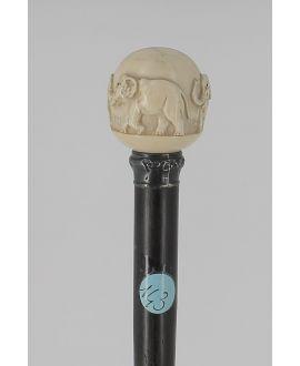Canne Boule ivoire ronde éléphant