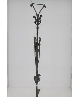 Bronze African cane