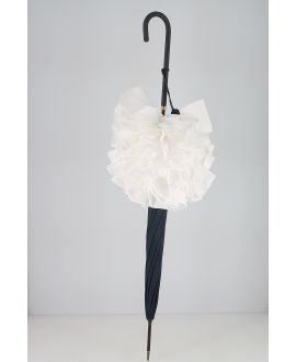 Frill umbrella Navy & white