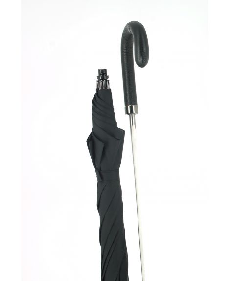 Sword - black umbrella with black leather handle