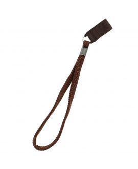 Brown textile strap, with elastic